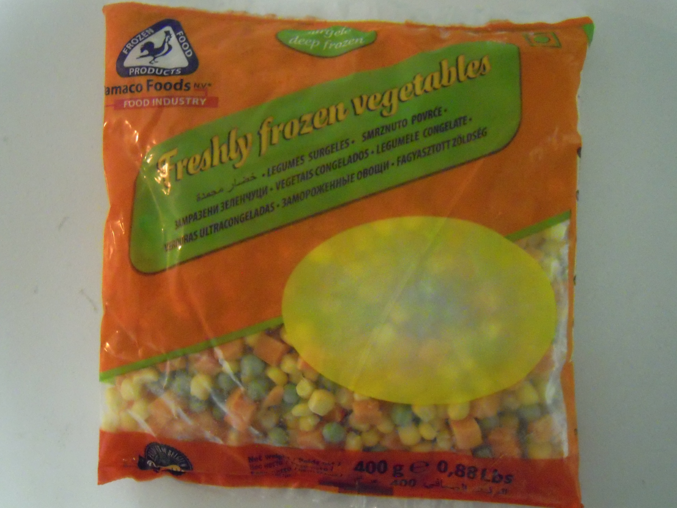 3 way mix vegetables damaco brand packaging