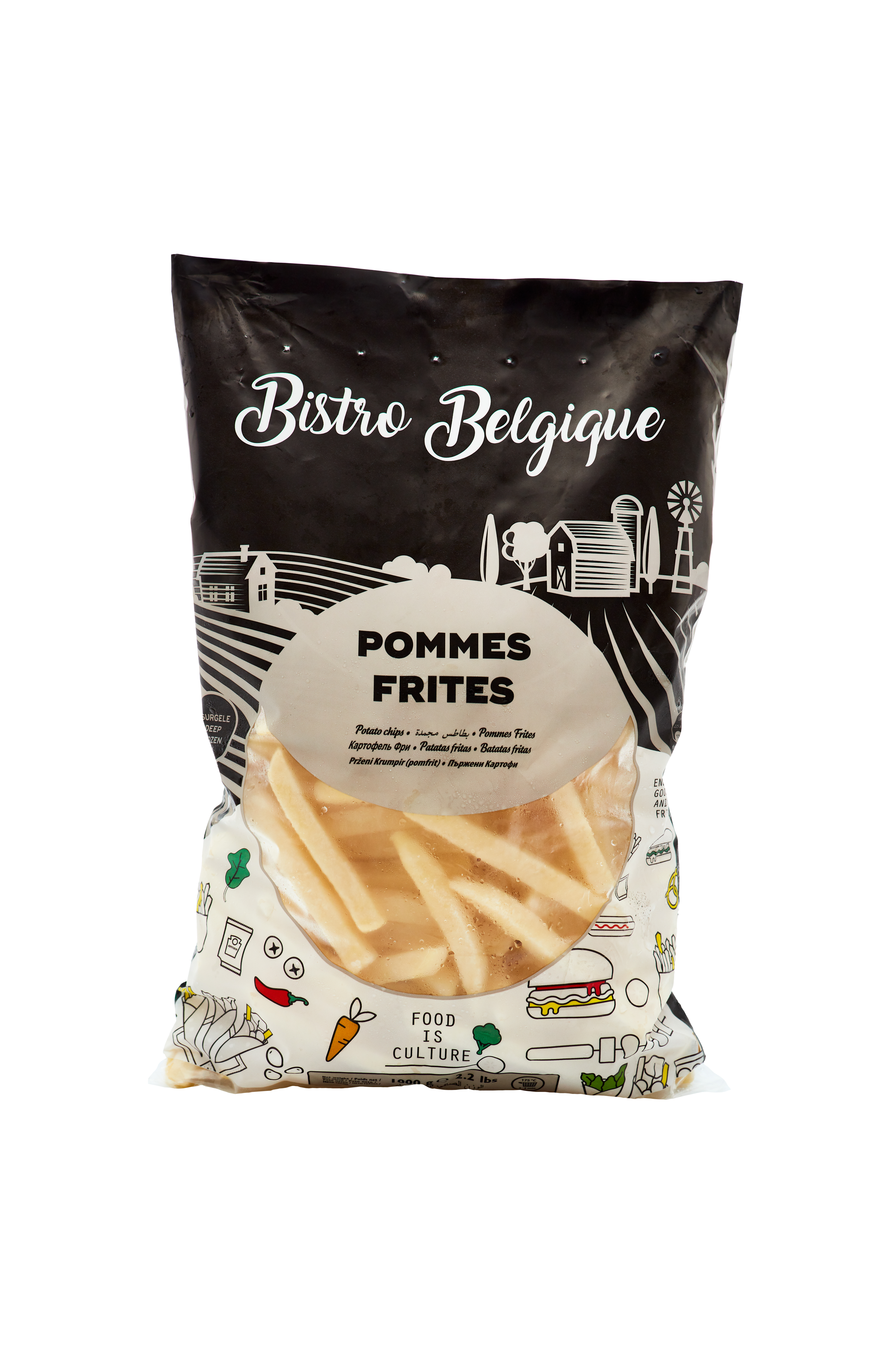 French fries 14x14mm packaging Bistro Belgique brand