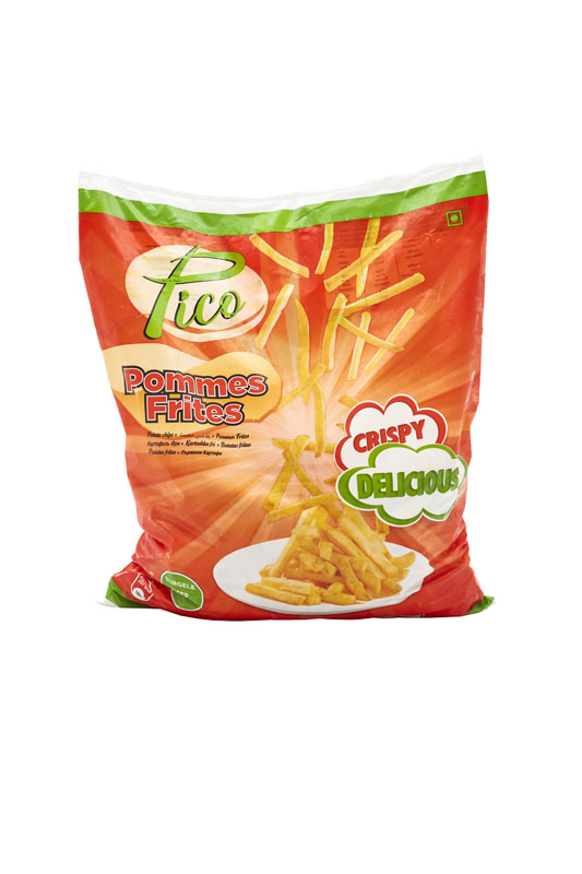 French fries crinkle cut packaging Pico brand