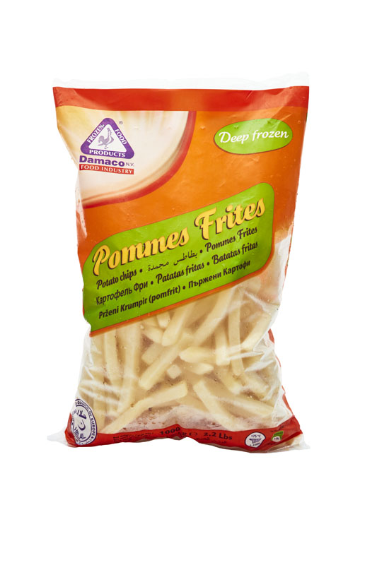 French fries 9x9mm packaging Damaco brand