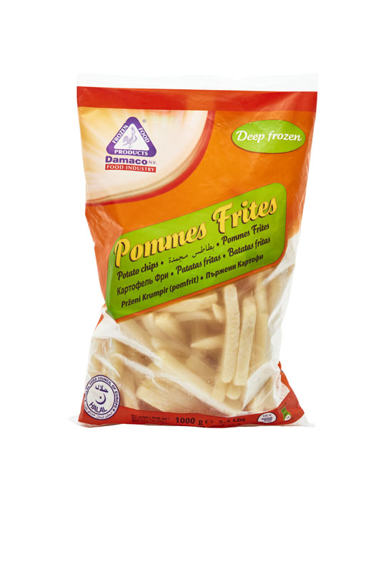 French fries 12x12mm Damaco brand packing