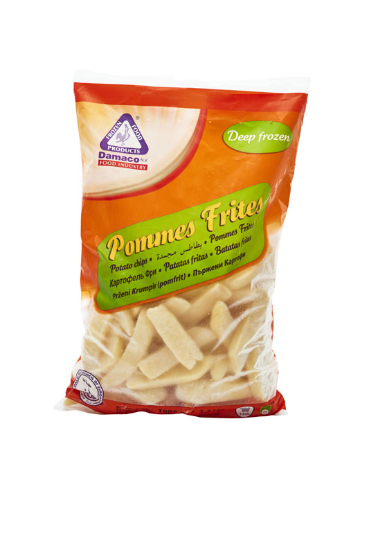 Steakhouse cut french fries packaging Damaco brand